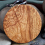 Burl wood full circle dangle design