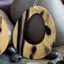 Tiger ebony droplet dangle design