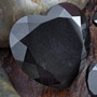 Black obsidian faceted heart plugs