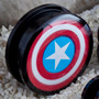 Acrylic screw fit Captain America plugs