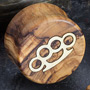 Olivewood plugs with brass knuckles inlays