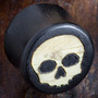 Gaboon ebony skull plugs
