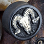 Gaboon ebony plugs with goat skull inlays