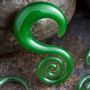 Pyrex glass mini spiral hoops (Green tea)