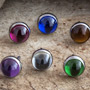 Threadless bezel set cabochon end