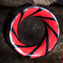 Black horn swirl eyelets (Red)