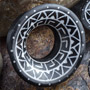 Arang wood inlayed Mayan flare eyelets