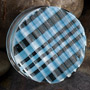 Retro plaid plugs (Baby blue)