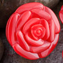 Single flare acrylic rose plug (Red)