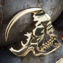 18k gold plated skull silhouette design