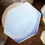 Opalite hexagon plugs