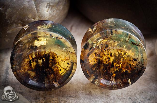 Chiapas Amber Concave Plugs