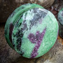 Double flare Ruby In Zoisite plugs