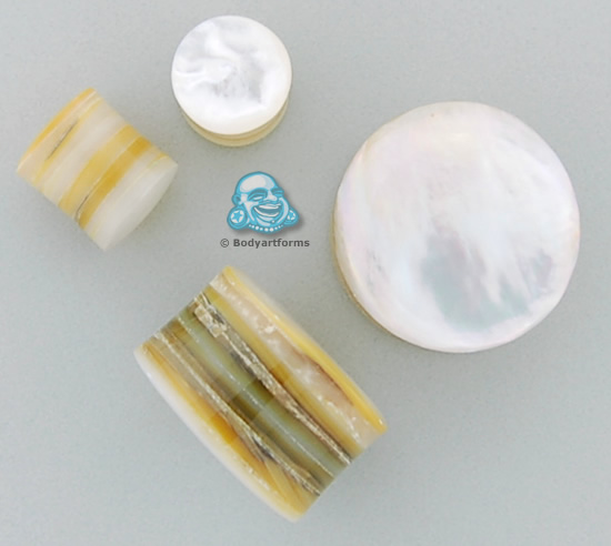 Organik Mother of Pearl Plugs