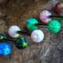 Faux-opal barbell