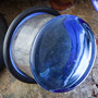 Single flare Light blue colorfront pyrex plug