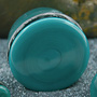 Single flare Light Aqua colorfront pyrex plug 