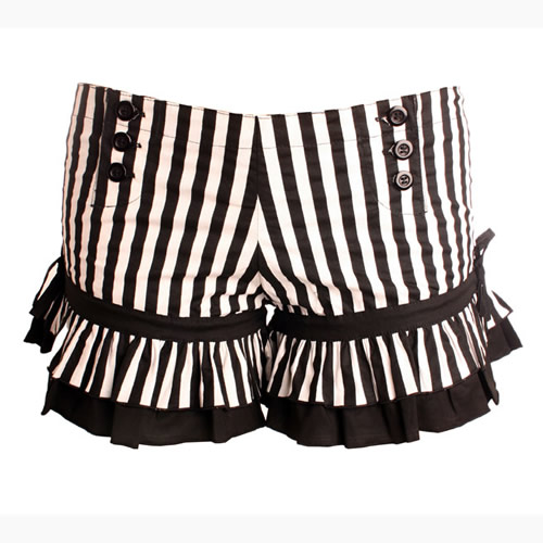 Short Black/White Striped Bloomers