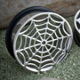 Steel single flare spiderweb cut-out plug