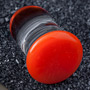Single flare orange colorfront pyrex plugs