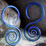Pyrex glass spiral hoops (Lake)