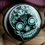 Single flare glow in the dark Day of the Dead skull plug