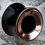 Ebony wood lao plugs with copper inlays