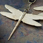 Brass dragonfly hanging design