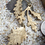Brass autumn trio hanging design