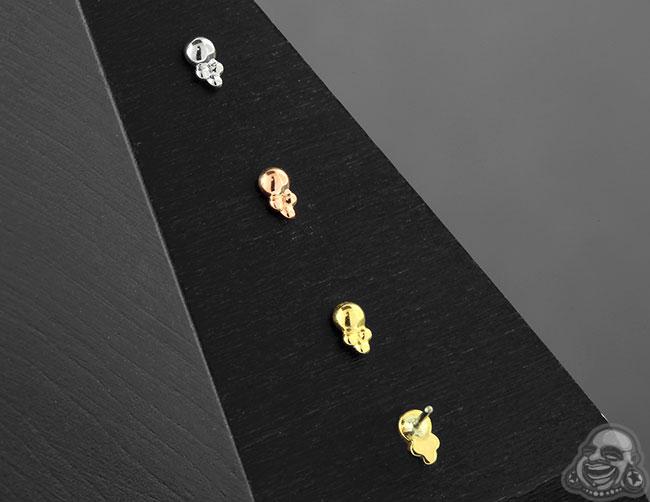 Threadless 18k Gold Desta End