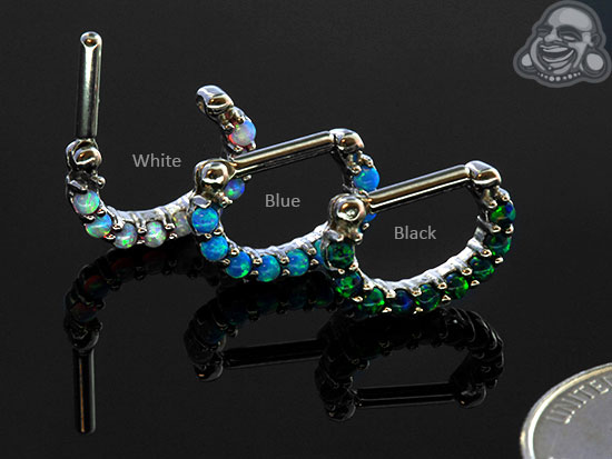 Prong Set Opal Septum Clicker
