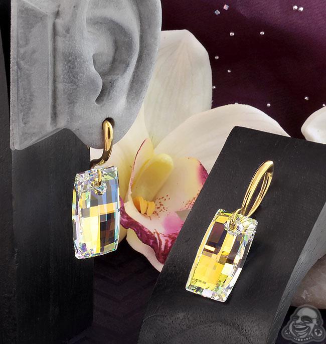 AB Swarovski Crystal Design with Brass Hooks