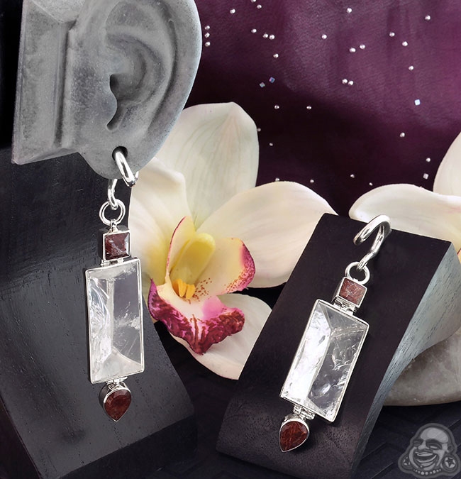 Silver and Tri-Crystal Quartz Weights