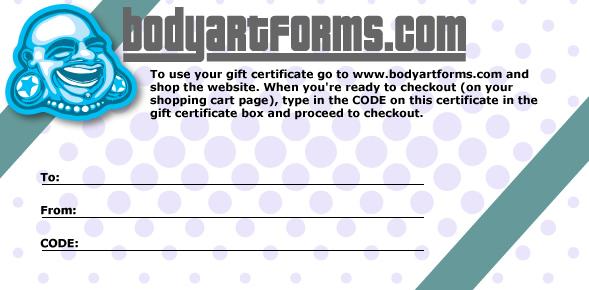Digital gift certificate