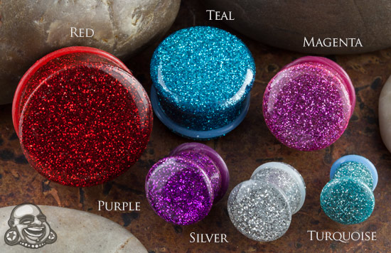 Single Flare Solid Glitter Plug
