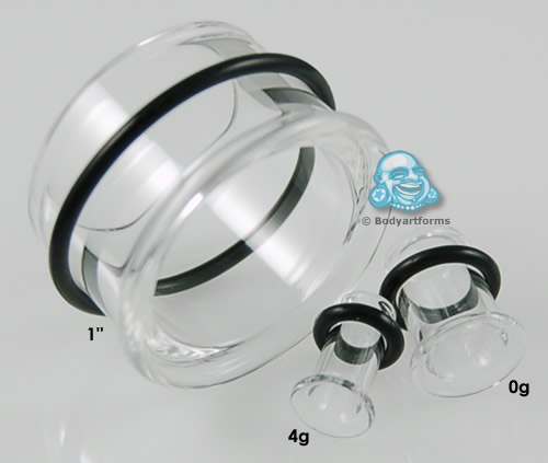 PRE-ORDER Clear Single Flare Pyrex Glass Eyelet
