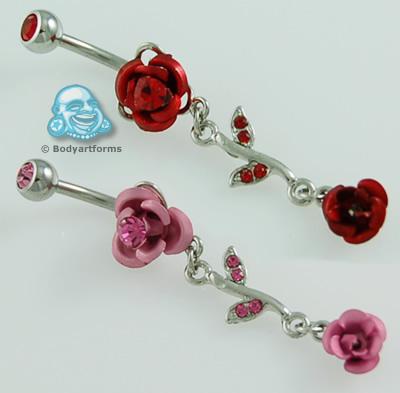 Rose Dangle Navel