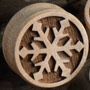 Curly maple snowflake plugs