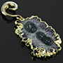 Solid brass and electroplated amethyst stalactite dangles