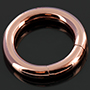 Rose gold colored segment ring