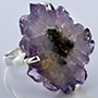 Sterling silver and amethyst stalactite ring (Size 7)