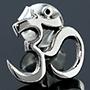 Sterling silver Ohm earrings