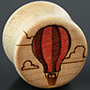 Curly maple hot air balloon plugs