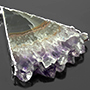 Sterling silver and electroplated amethyst stalactite weights