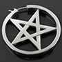 Sterling silver Ace of Pentacles