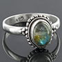 Sterling silver and labradorite ring (Size 6)