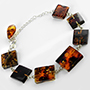 Sterling silver and Baltic amber bracelet