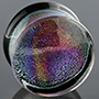 Pyrex glass rainbow foil plugs