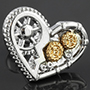 Steampunk heart tragus or cartilage barbell