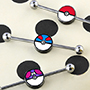 Pokemon ball industrial barbell